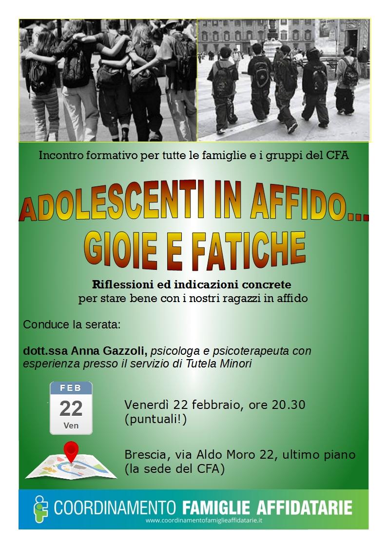 Serata formativa per tutte le famiglie del CFA @ Sede CFA